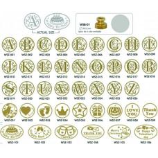 Alphabet Series Letras para Sinete WSZ