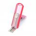 Carimbo Pocket Automatik PS-413 Rosa Transparente + Vermelho Sólido